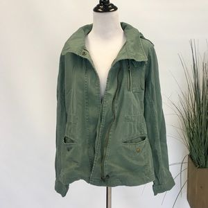 Cotton On Olive Green Hooded Utility Jacket